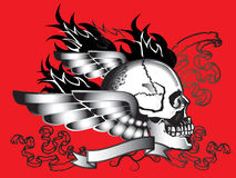 Sztuki czaszki wzoru tatuaż Obraz Stock