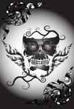 Sztuki czaszki wzoru tatuaż Fotografia Stock