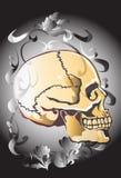Sztuki czaszki wzoru tatuaż Zdjęcie Stock
