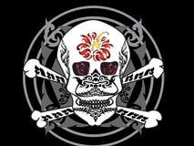 Sztuki czaszki wzoru tatuaż Zdjęcia Royalty Free