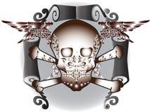 Sztuki czaszki wzoru tatuaż Zdjęcie Royalty Free