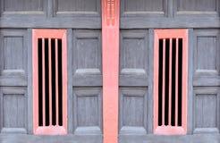 sztuki deskowy Thailand ścienny nadokienny drewniany Fotografia Stock