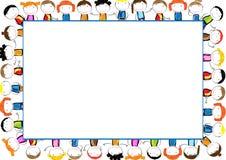 sztuki dzieciństwa ramy szczęśliwy ilustracyjny dzieciaków miejsca próbki teksta wektor Obraz Royalty Free