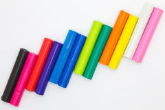 Sztuki glina wtyka tęcz colours Obraz Stock