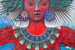 sztuki gorgon lubi ulicznej kobiety Obraz Royalty Free