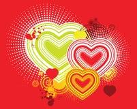 sztuki grafiki backround miłości wektor Obrazy Royalty Free