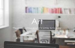 Sztuki grafiki rzemiosła abstrakta stylu wystawy Kreatywnie pojęcie Obraz Stock
