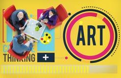 Sztuki grafiki tworzenia hobby Kreatywnie pojęcie Fotografia Stock
