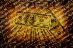 Sztuki grunge pieniądze tło royalty ilustracja