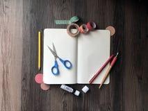 Sztuki i rzemiosło notatnika puste miejsce zdjęcia stock