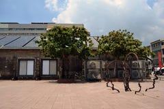 Sztuki instalacja przy Pier-2 sztuki centrum, Kaohsiung Zdjęcie Stock
