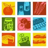 sztuki jedzenia rynku przedmiotów wystrzał Obraz Royalty Free