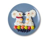 Sztuki jedzenie dla dzieci Obraz Royalty Free