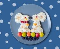 Sztuki jedzenie dla dzieci Zdjęcie Royalty Free