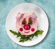 Sztuki jedzenie, kanapka zdjęcie stock