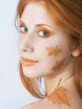 sztuki jesień twarzy styl Obraz Stock