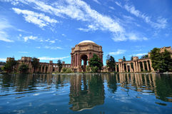 sztuki karać grzywną Francisco pałac San Zdjęcie Royalty Free