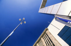 sztuki karać grzywną rzeźby lampową ulicę Obrazy Stock