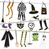 sztuki klamerki clothesline kostium Halloween Obrazy Stock