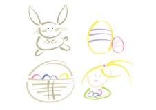 sztuki klamerki Easter nowożytny set Fotografia Stock