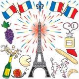 sztuki klamerki France Paris przyjęcie Obrazy Royalty Free