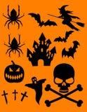 sztuki klamerki Halloween wizerunków tematu wektor Fotografia Royalty Free