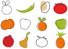sztuki klamerki jedzenie ilustracji