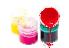 Sztuki kolorowa farba Obrazy Stock