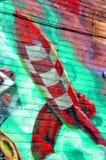 sztuki kolorowa zakrywająca graffiti ulicy ściana zdjęcia royalty free