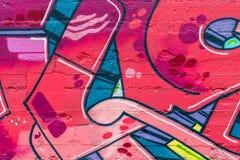 sztuki kolorowa zakrywająca graffiti ulicy ściana Kolorowi graffiti na ścianie Zdjęcie Royalty Free