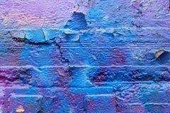 sztuki kolorowa zakrywająca graffiti ulicy ściana Kolorowi graffiti na ścianie Obraz Stock
