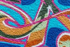 sztuki kolorowa zakrywająca graffiti ulicy ściana Kolorowi graffiti na ścianie Zdjęcia Stock