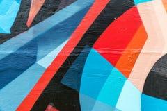 sztuki kolorowa zakrywająca graffiti ulicy ściana Kolorowi graffiti na ścianie Obrazy Stock