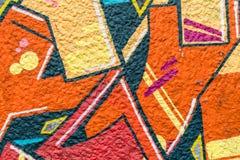 sztuki kolorowa zakrywająca graffiti ulicy ściana Kolorowi graffiti na ścianie Fotografia Stock