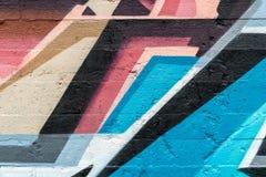 sztuki kolorowa zakrywająca graffiti ulicy ściana Kolorowi graffiti na ścianie Zdjęcie Stock