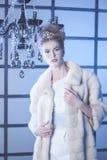 sztuki kreatywnie mody wysokości klucza makeup królowej zima Fotografia Royalty Free