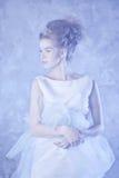 sztuki kreatywnie mody wysokości klucza makeup królowej zima Obraz Royalty Free