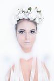 sztuki kreatywnie mody wysokości klucza makeup królowej zima Zdjęcie Royalty Free