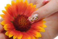 sztuki kwiatu gwóźdź Obrazy Royalty Free