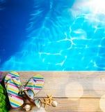 Sztuki lata plaży akcesoria zdjęcia stock