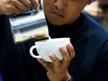 Sztuki latte występ Zdjęcie Stock