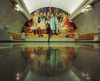 Sztuki metro fotografia stock