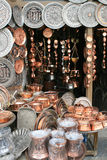 sztuki miedziany persa srebro tradycyjny Zdjęcie Stock
