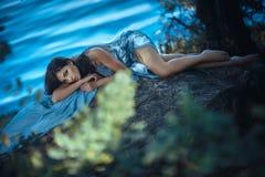Sztuki mody modela dziewczyny portret Zdjęcie Stock