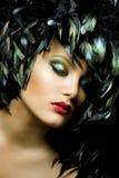 sztuki mody portret fotografia stock