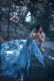 Sztuki mody Seksowny Wzorcowy portret Dziewczyna na plaży Obrazy Royalty Free