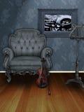 sztuki muzyki pokój Obrazy Royalty Free