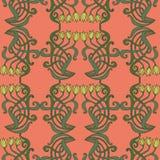 Sztuki nouveau, art deco, nowożytny, roczników elementów bezszwowy wzór Zdjęcie Stock
