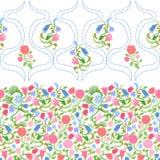 Sztuki Nouveau bezszwowy wzór z fulips i różami Zdjęcie Stock