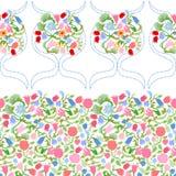 Sztuki Nouveau bezszwowy wzór z fulips i różami Fotografia Stock